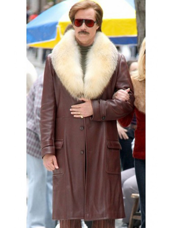 Anchorman 2 The Legend Continues Will Ferrell Leather Coat