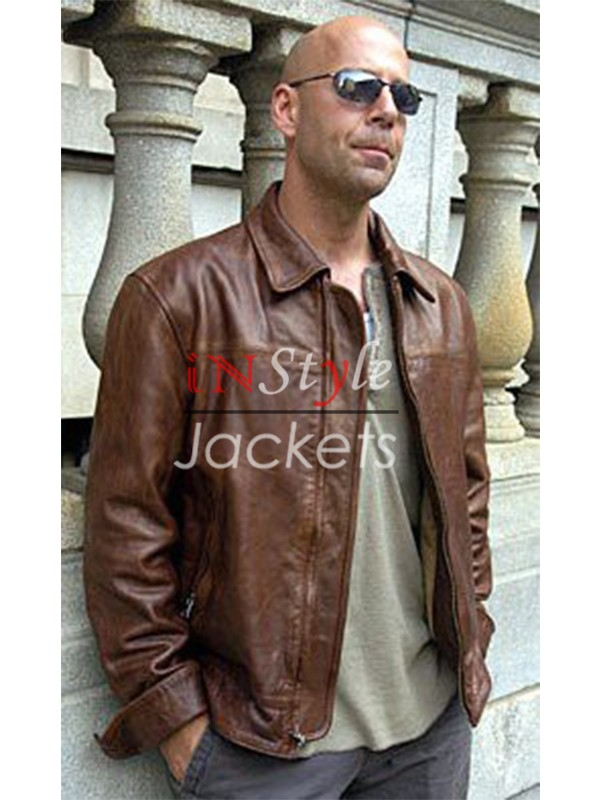 Bruce Willis Live Free or Die Hard Leather Jacket