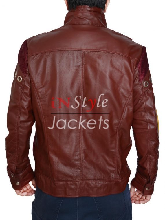 Chris Pratt Guardian Of Galaxy Star Lord Red Leather Jacket