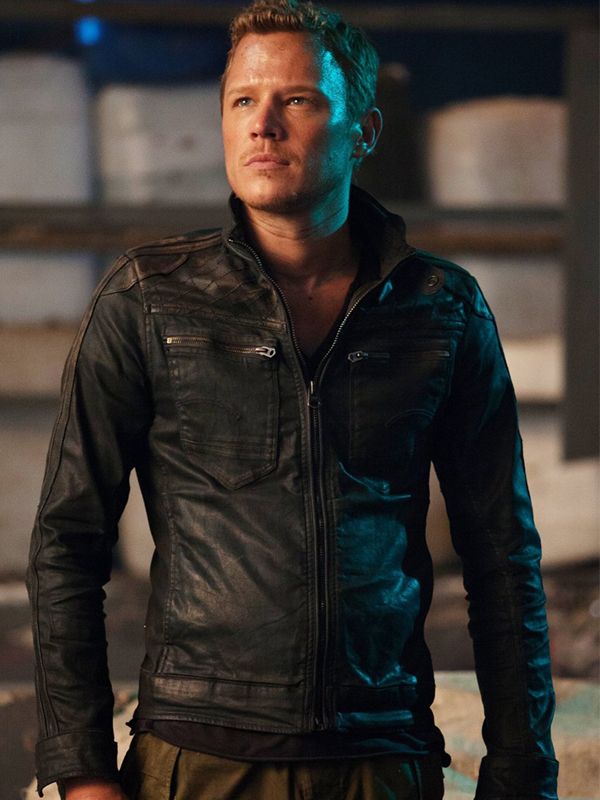 CHRISTOPHER EGAN DOMINION TV SERIES LEATHER JACKET