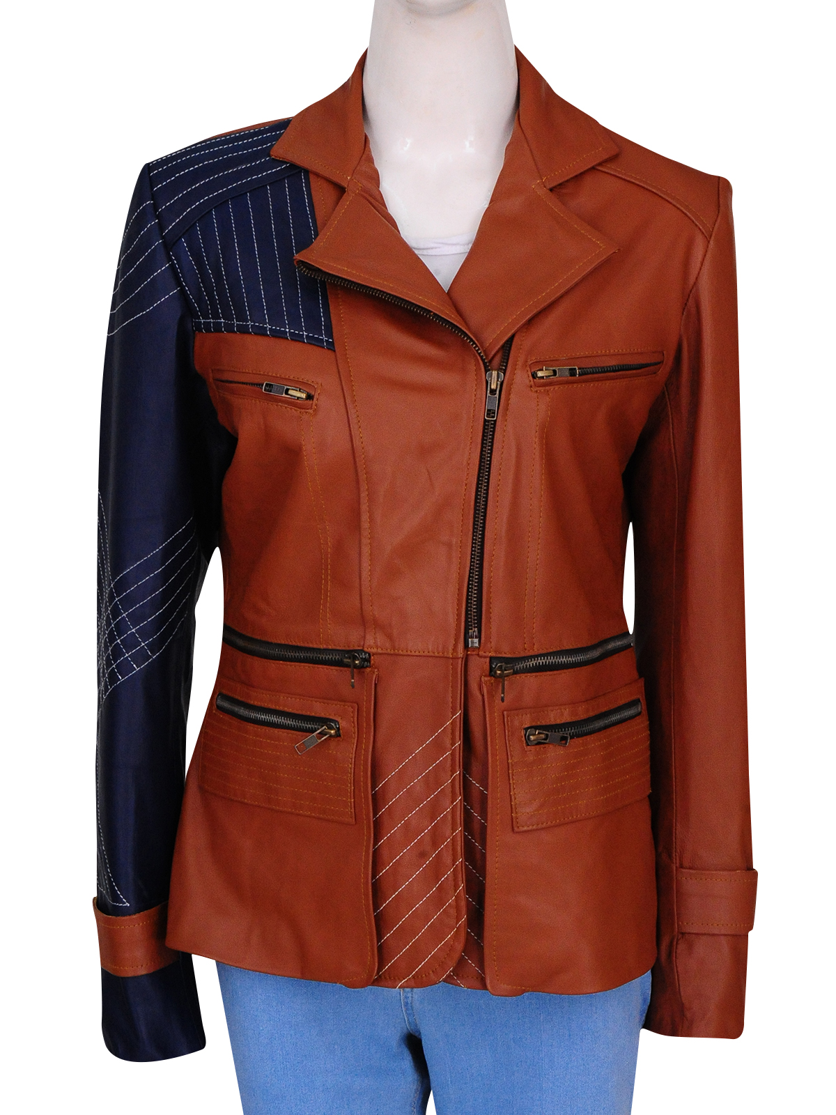 Julie Benz Defiance Amanda Rosewater Womens Leather Jacket Best For Halloween