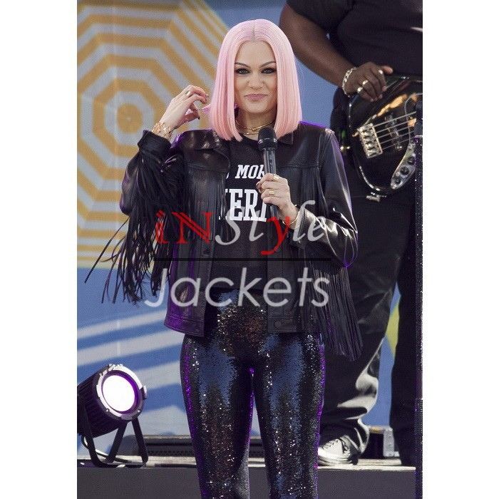 Jessie J Fringe GMA Summer Concert in NY Black Jacket
