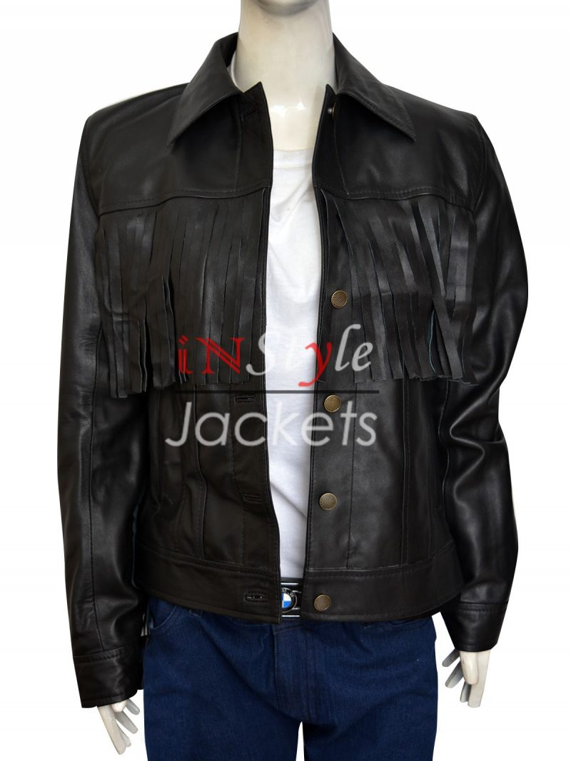 Jessie J Fringe New York Concert Leather Jacket