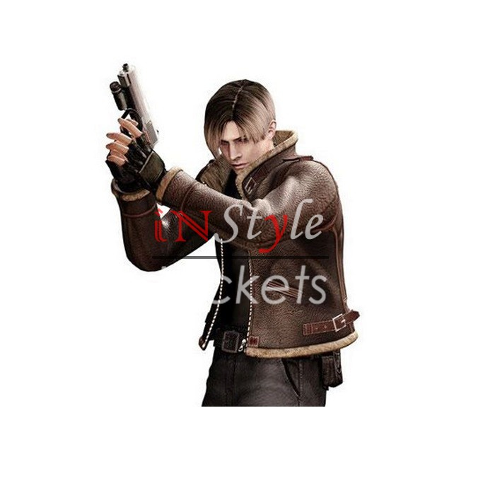 Leon Kennedy Resident Evil 4 Brown Jacket