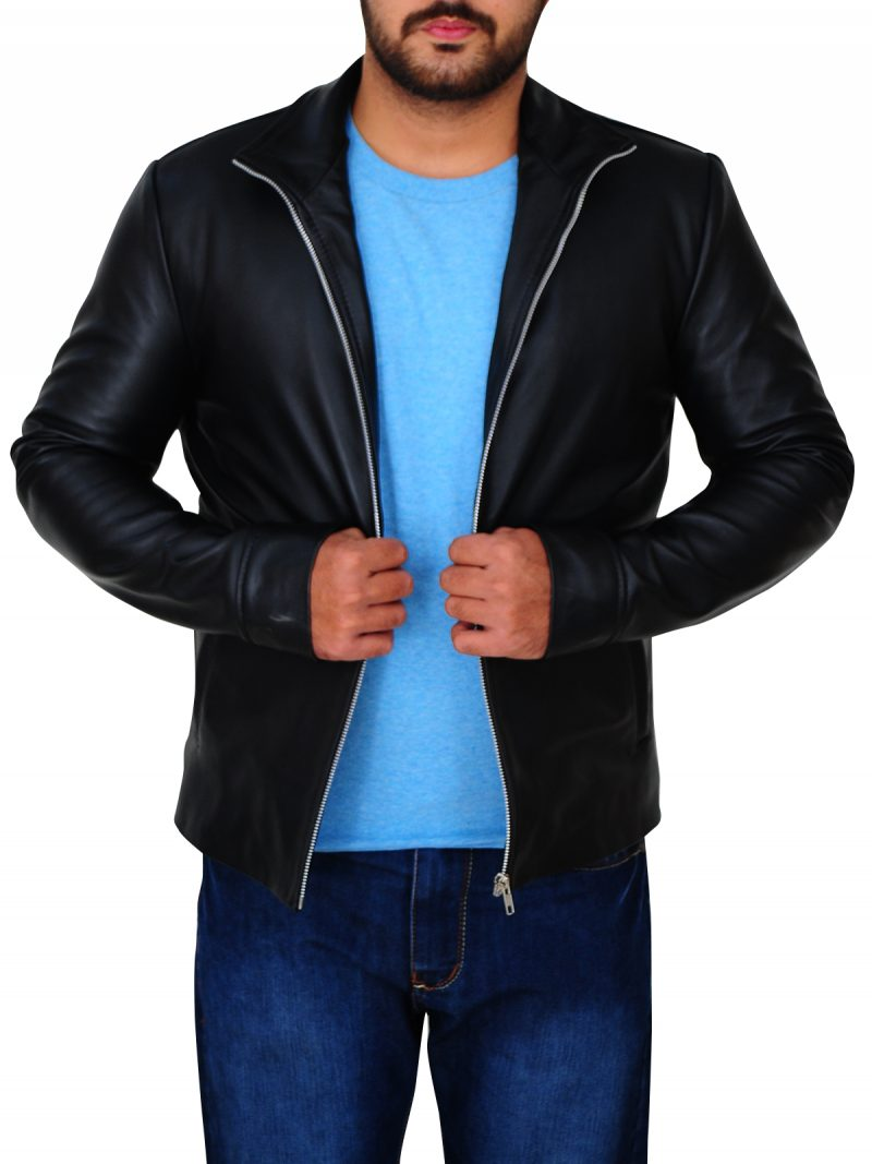 Tom Cruise Minority Report Black Leather Jacket,