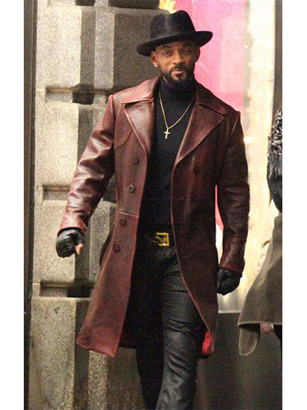 Will Smith Suicide Squad Deadshot Leather Coat