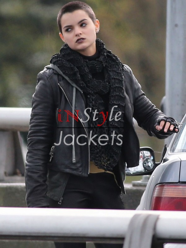 Deadpool 2016 Movie Brianna Hildebrand Leather Jacket