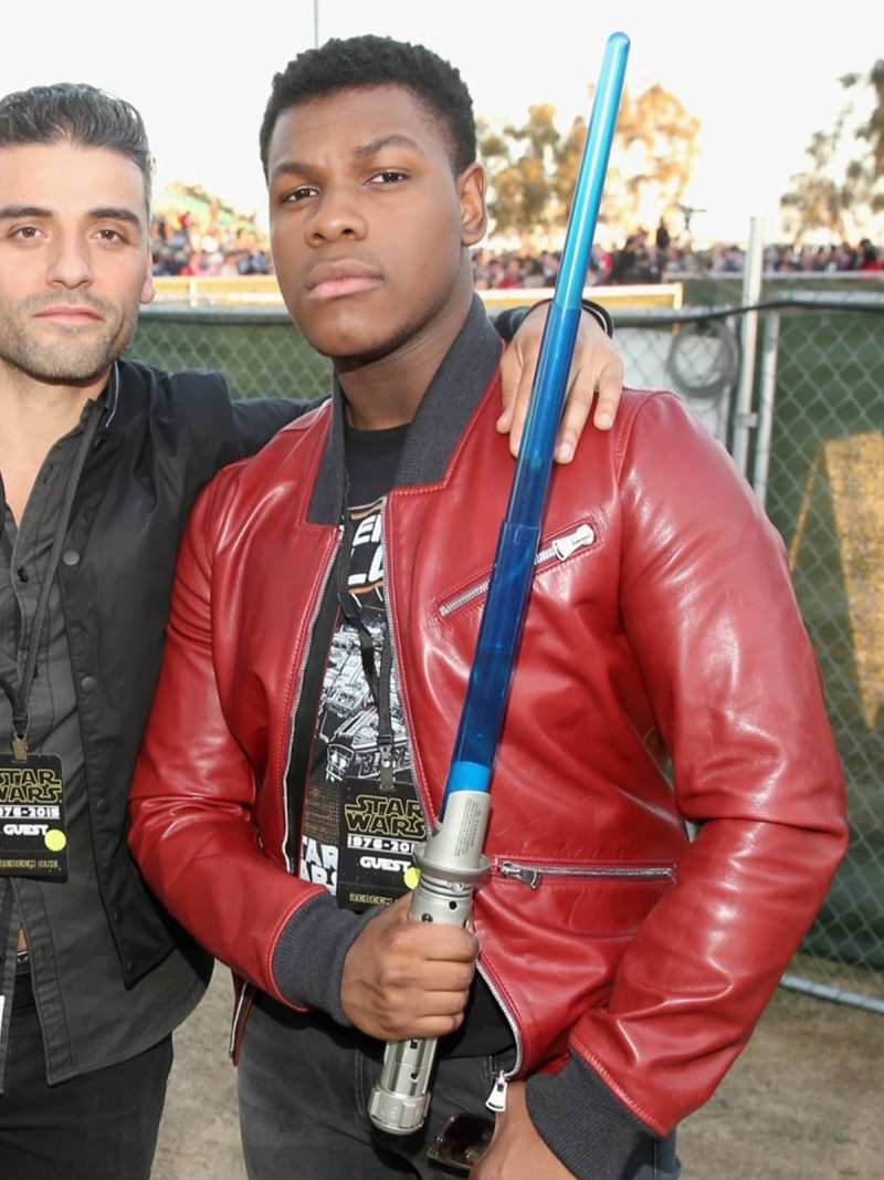 John Boyega, Star-Wars-The-Force-Awakens-Red-Jacket,