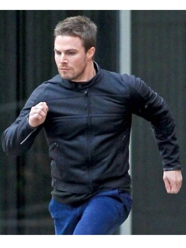 Oliver Queen Arrow Stephen Amell Leather Jacket