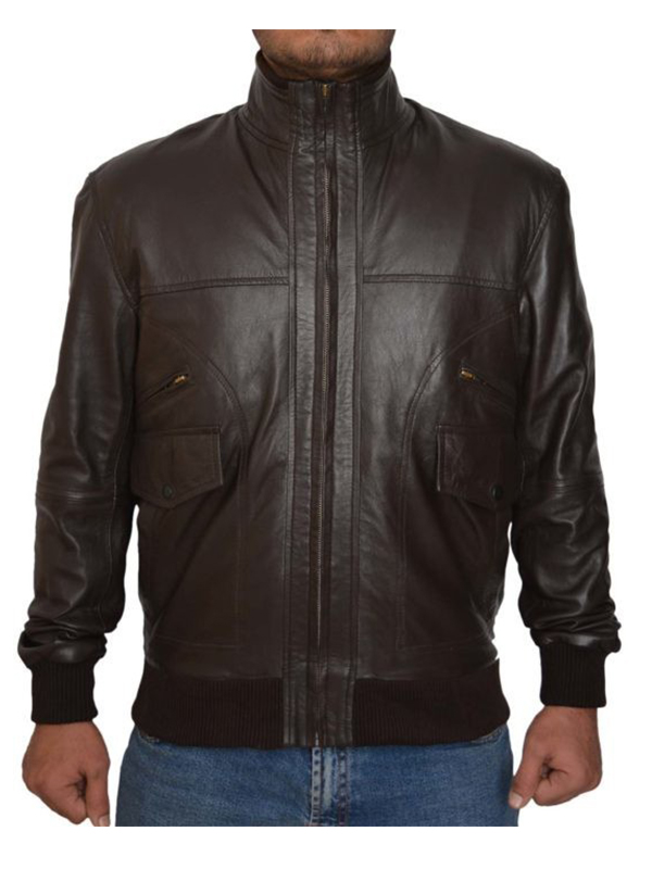 Six Pocket Bomber Brown Jacket