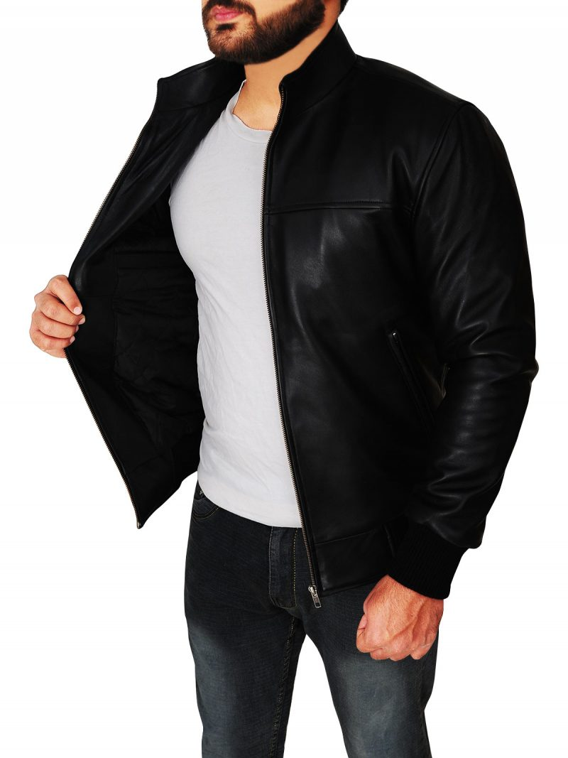 The Vampire Diaries Season 4 Damon Salvatore Black Jacket,
