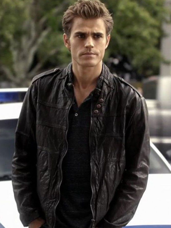 Vampire-Diaries, Stefan-Salvatore-Black-Jacket,