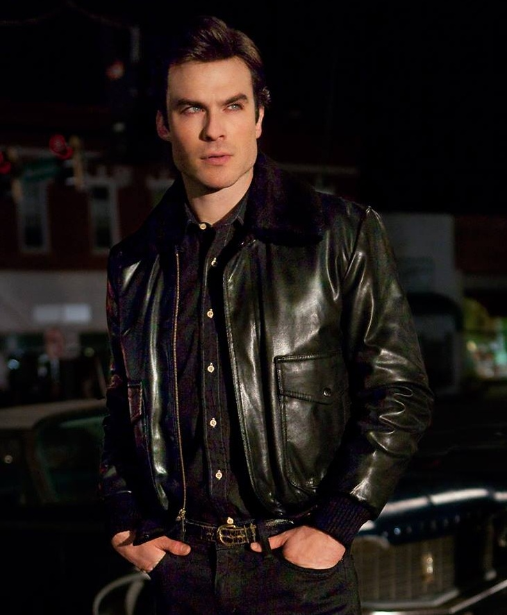 Damon Salvatore Vampire Diaries TV Series Jacket