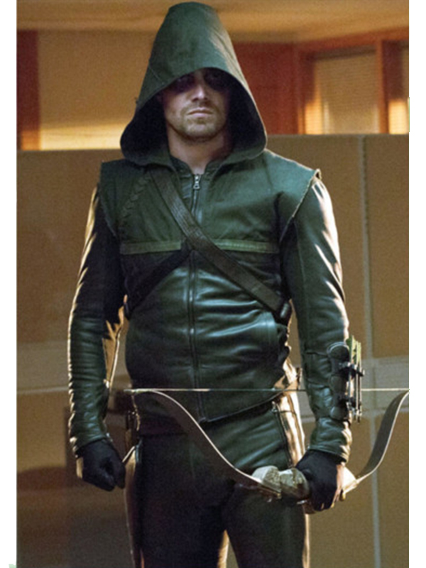 Arrow TV Series Stephen Amell Green Hooded Jacket