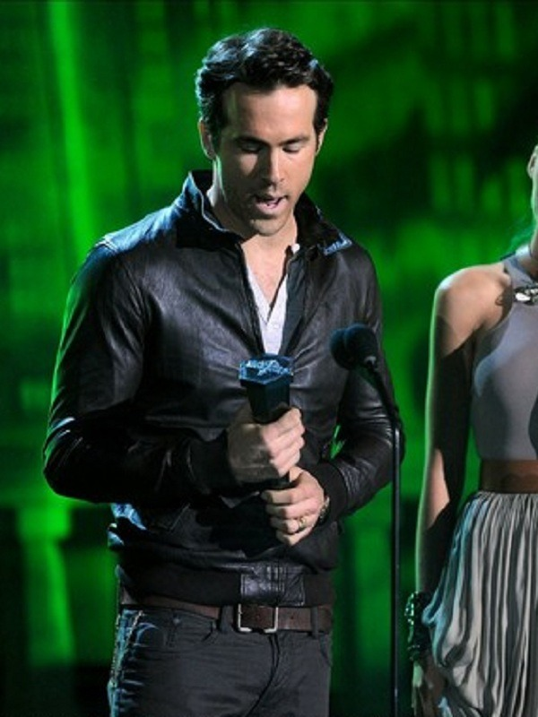 Ryan Reynolds Scream Award Black Jacket