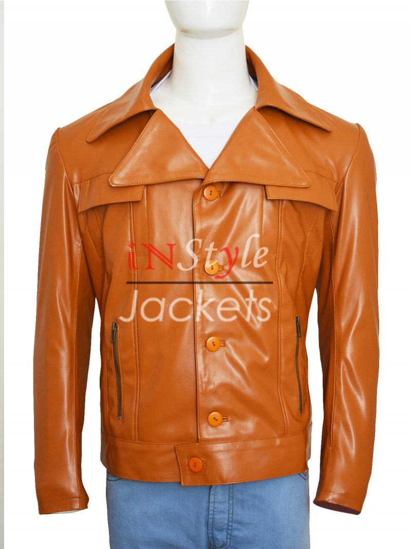 Bobby Cannavale Vinyl Brown Jacket