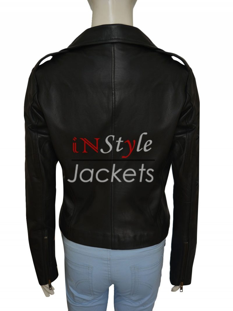 Kim Kardashian Black Motorcycle Leather Jacket