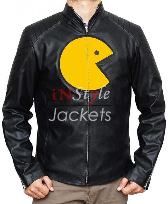 Pac Man Game Leather Jacket