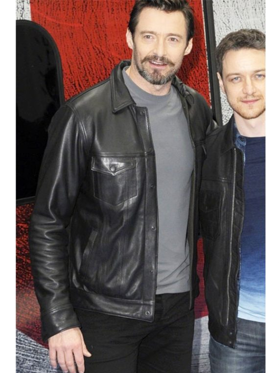 Hugh Jackman London Train Station Black Jacket