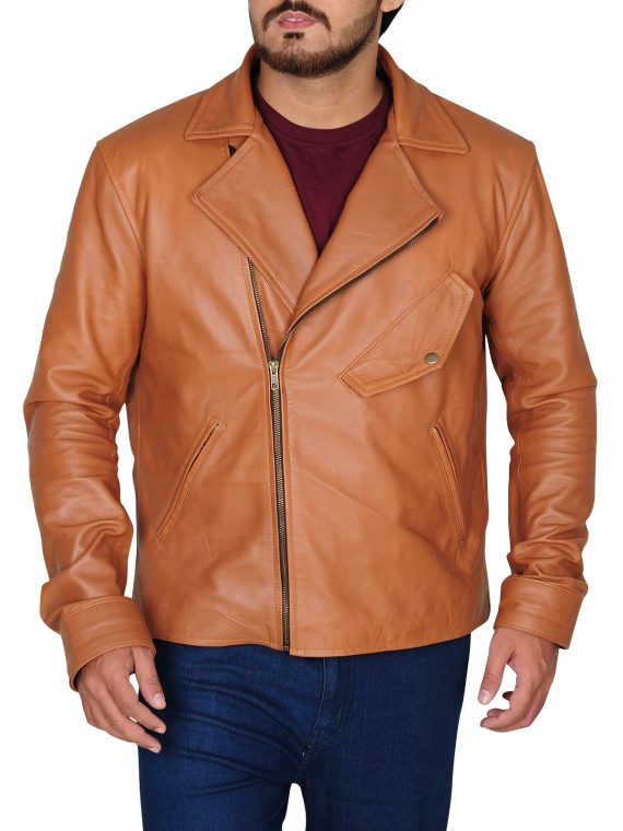 MEN STYLISH OUTFIT LEATHER JACKET
