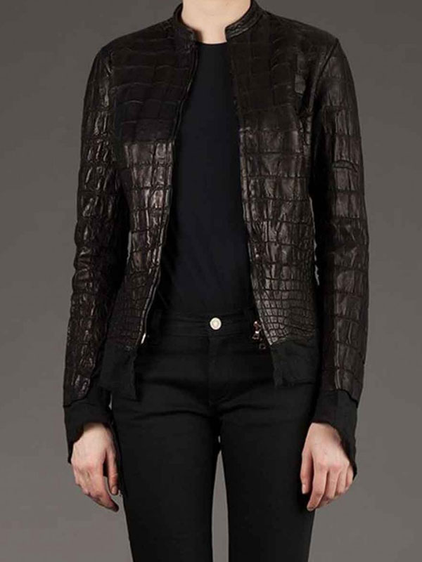 Alligator Style Black Jacket