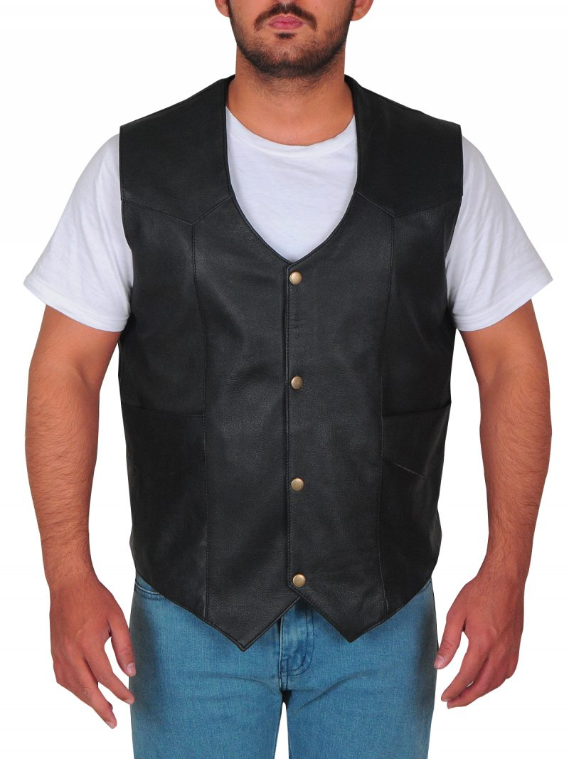 Dwayne Johnson Leather Vest