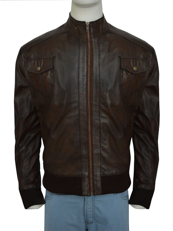 Charming Brown Leather Jacket