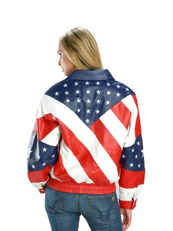 Exclusive American Flag Biker Jacket