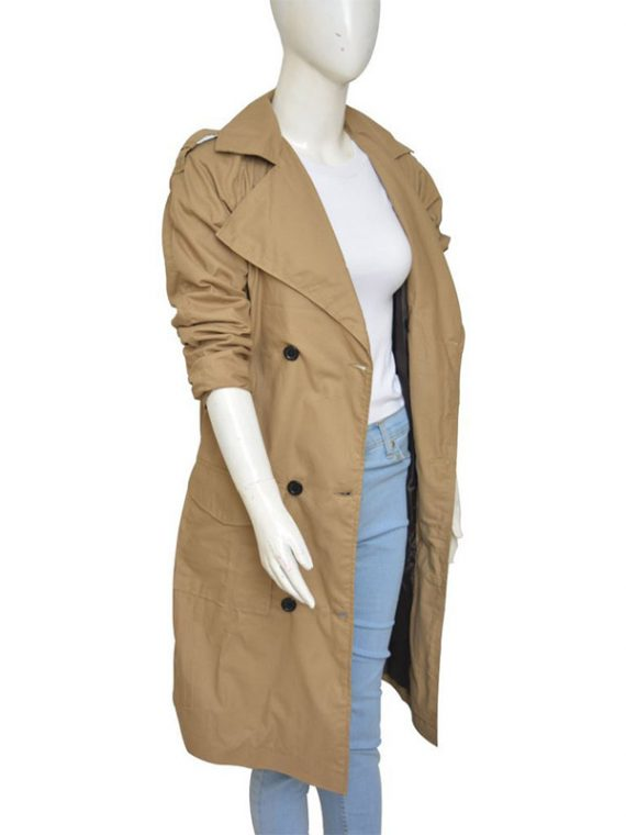Jennifer Lopez Beige Color Long Coat