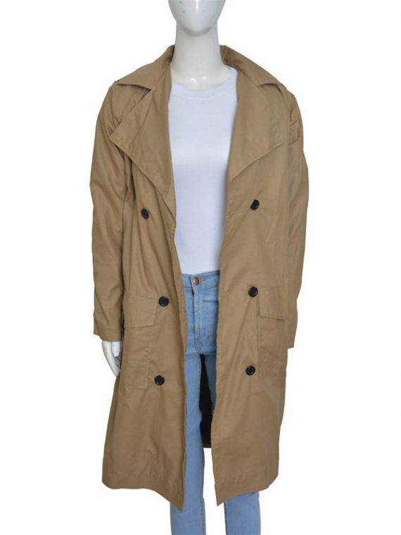 Jennifer Lopez Beige Long Coat