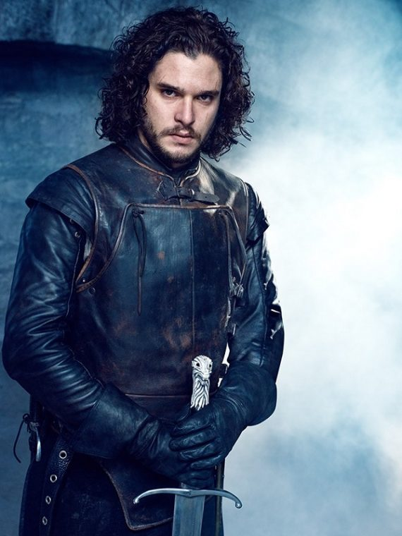 Kit Harington Game of Thrones Black Jacket
