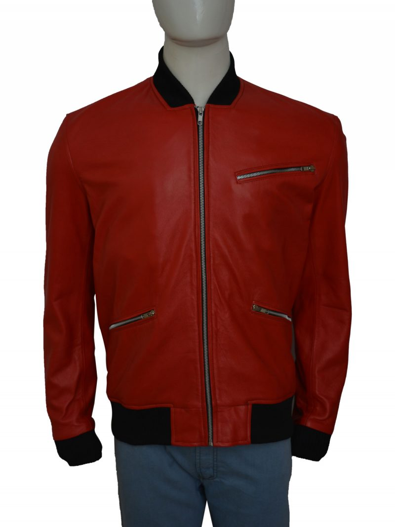 Letterman Red Leather Jacket
