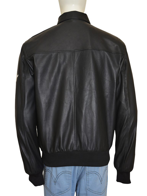 Men Exquisite Black Bomber Jacket