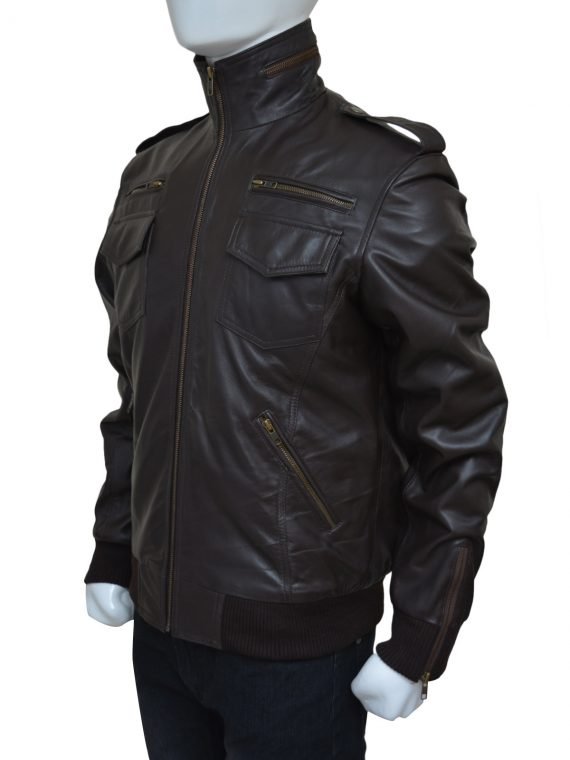 Men Leather Brown Leather Jacket