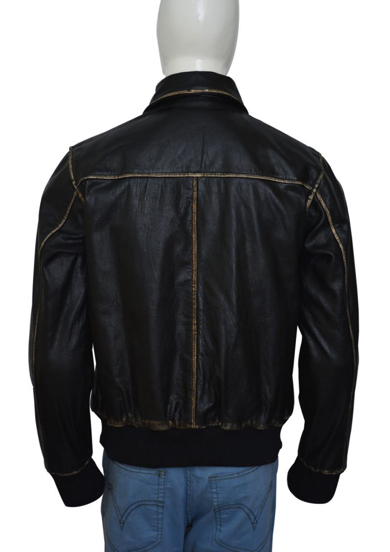 Men Stunning Black Leather Jacket