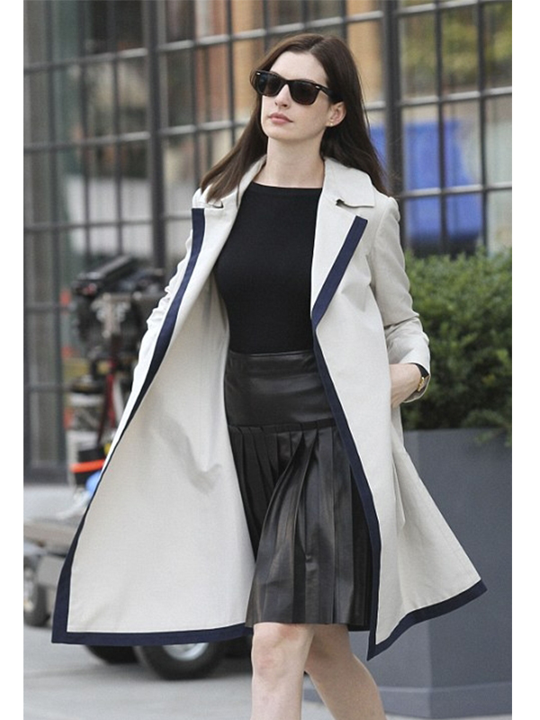 Anne Hathaway The Intern Movie Cotton Coat