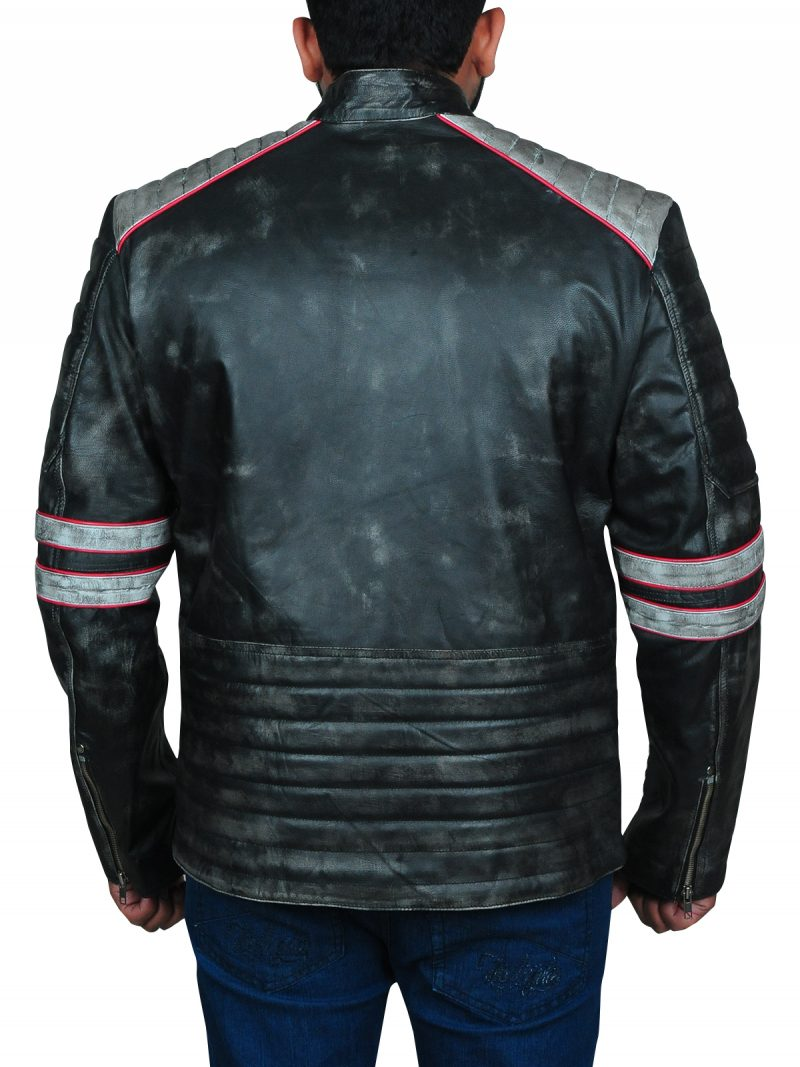 Cafe Racer Motorcycle Leather Jacket