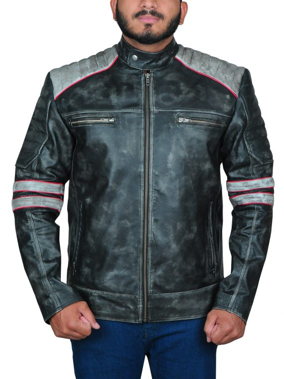 Cafe Racer Vintage Biker Leather Jacket