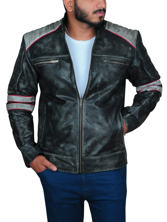 Cafe Racer Vintage Motorcycle Leather Jacket