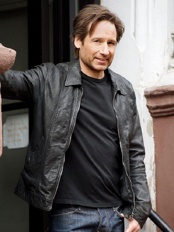 David Duchovny Californication Hank Moody Leather Jacket