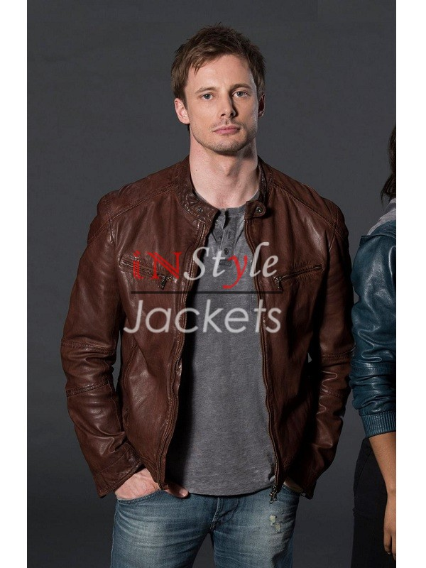 Damien TV Series Damien Thorn Brown Jacket