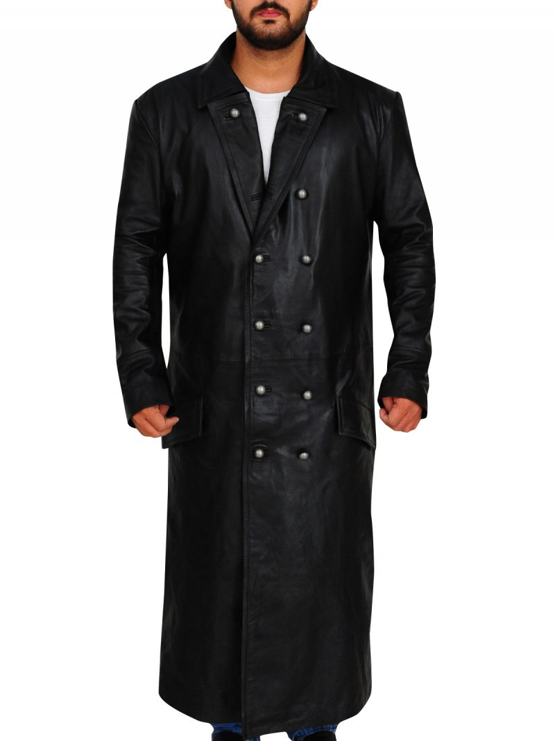 German Officer Leather Coat