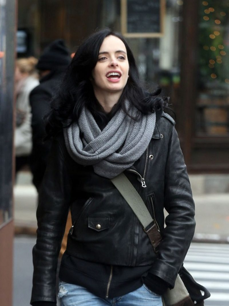 Krysten Ritter The Defenders Jessica Jones Black Jacket