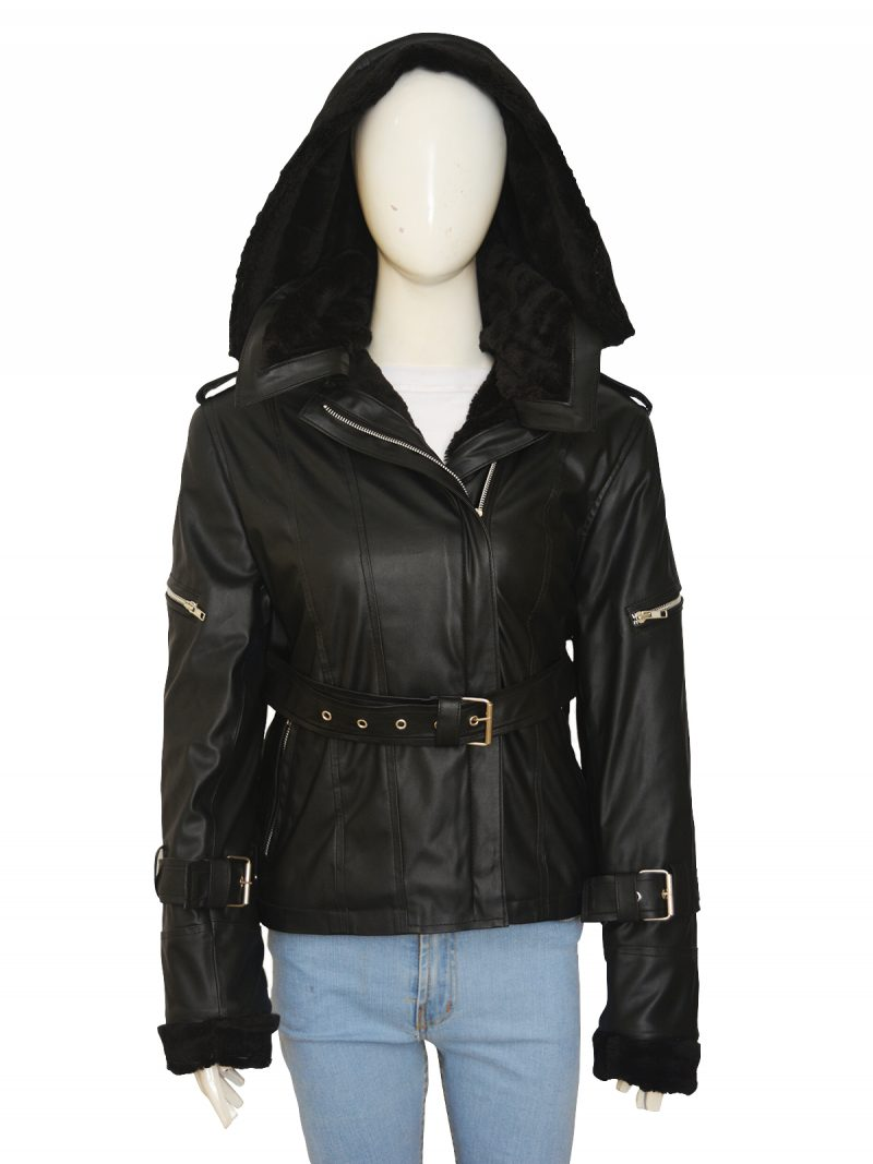 Once Upon A Time Emma Swan Hoodie Leather Jacket