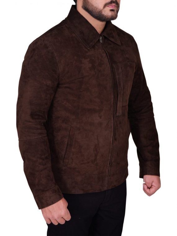 Tom Cruise Oblivion Movie Suede Leather Jacket,