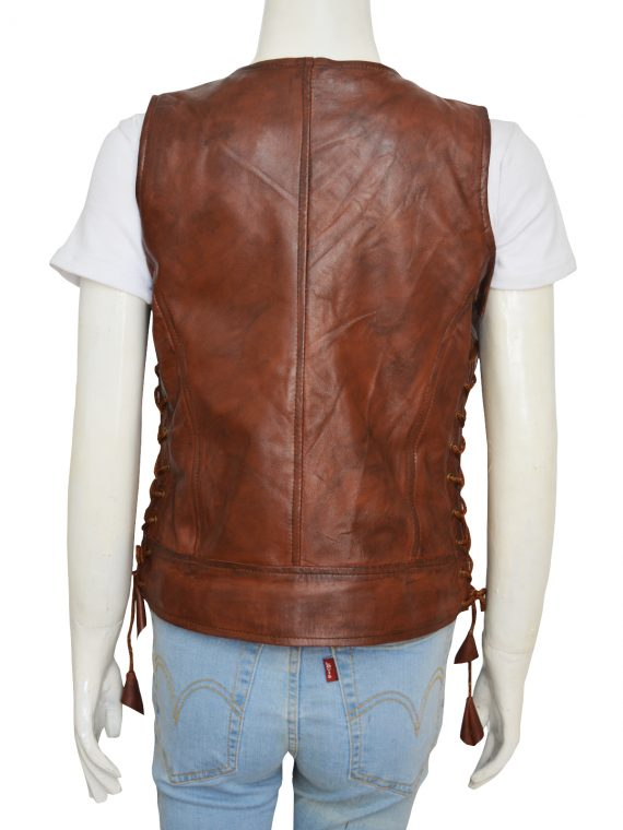 Walking Dead Leather Vest