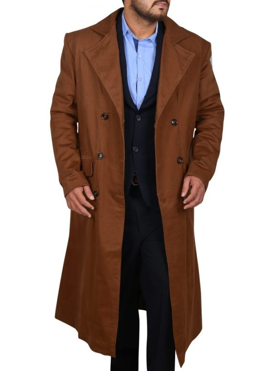 David Tennant Brown Trench Coat,
