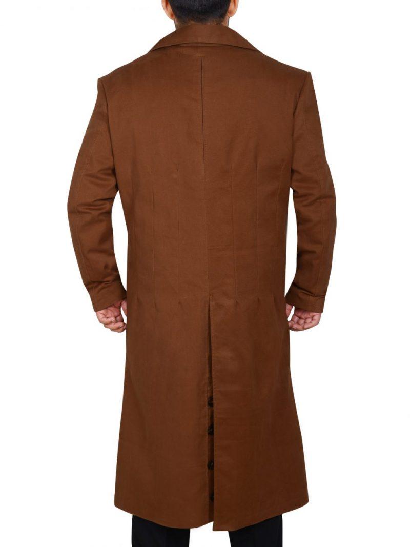 Doctor Who David Tennant Brownn Trench Coat,
