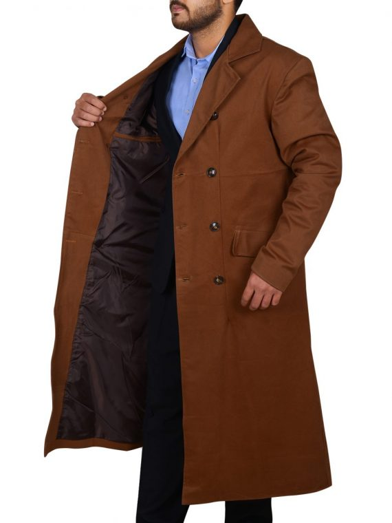 Doctor Who Tennant Brown Trench Coat,