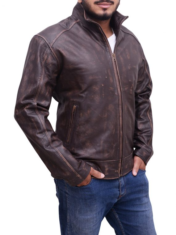 Bourne Sequel Leather Jacket